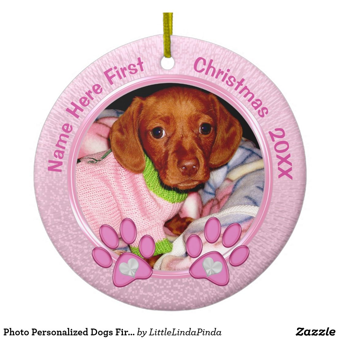 Dogs First Christmas Ornament.Photo Personalized Dogs First Christmas Ornament Zazzle