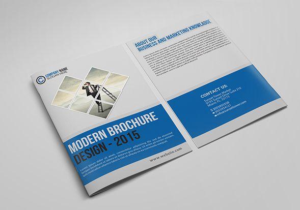 Tri-Fold Brochure PSD Mockup Resume design Brochure template