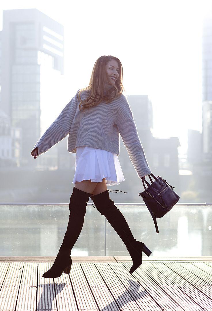 Oversized Sweaters & Overknee Boots   Overknee stiefel