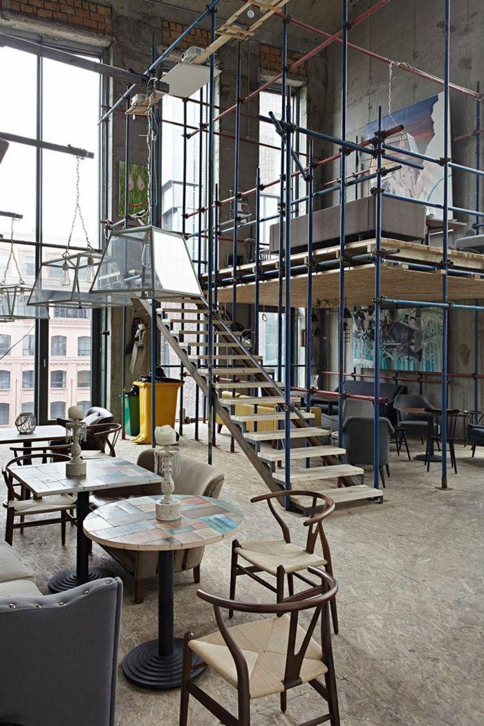 Mille Et Une Idees Pour Le Salon Style Industriel En 44
