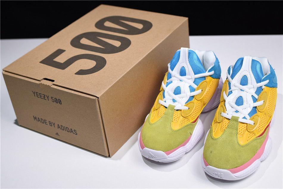 da7819dd5 adidas Yeezy 500 Yellow Sky Blue Pink White Green DB2906