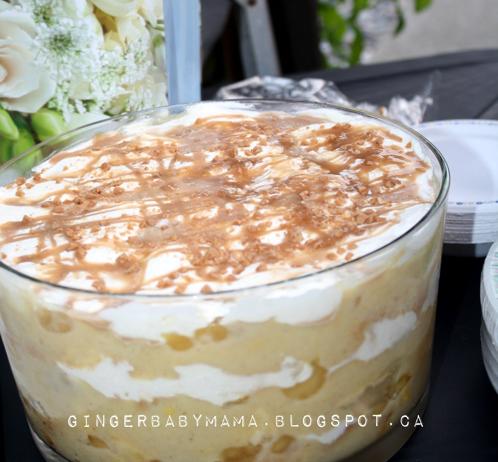 Caramel Apple Trifle -  Super easy, no bake dessert for a large crowd!  GingerBabyMama