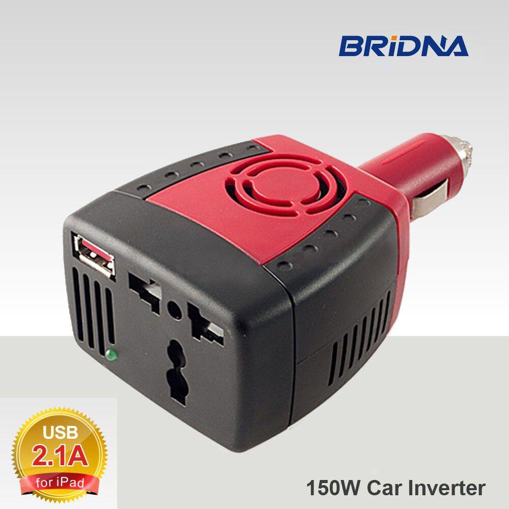 BRIDNA new 150 W Car Power Inverter 12 V DC para 220 V/110 v AC Adaptador conversor com Isqueiro e USB 2.1A/0.5A Para Laptop