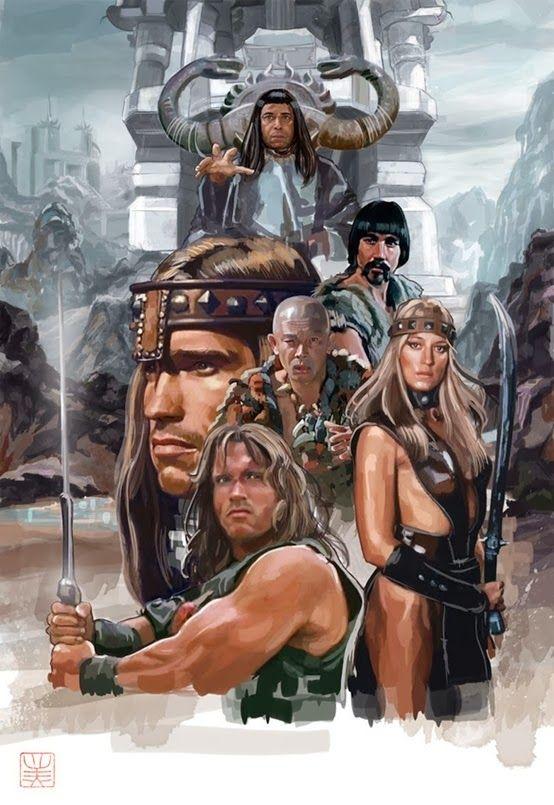 Conan Arnold Schwarzenegger Artwork Posteres De Filmes