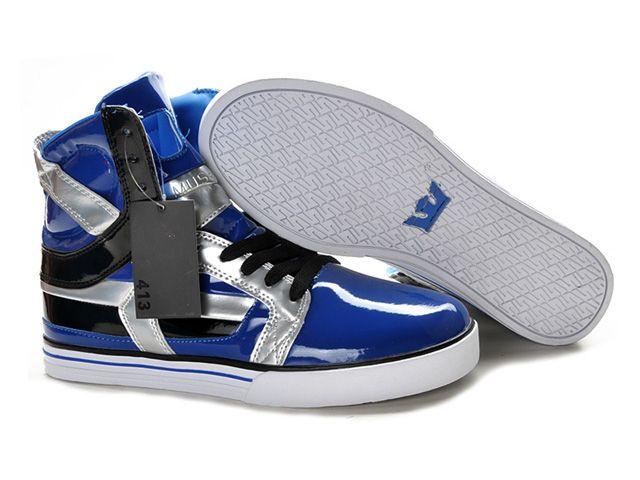 Mens Supra Skytop II Skate Shoe Bright Blue Silver Black