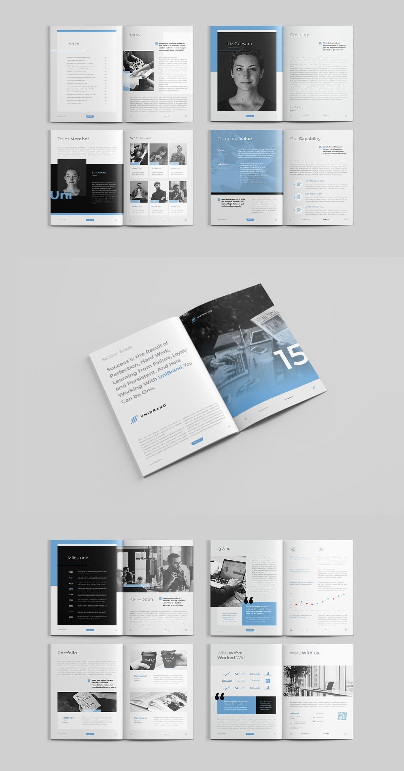 Company Profile Is Editorial Layout Template With 20pp Indesign