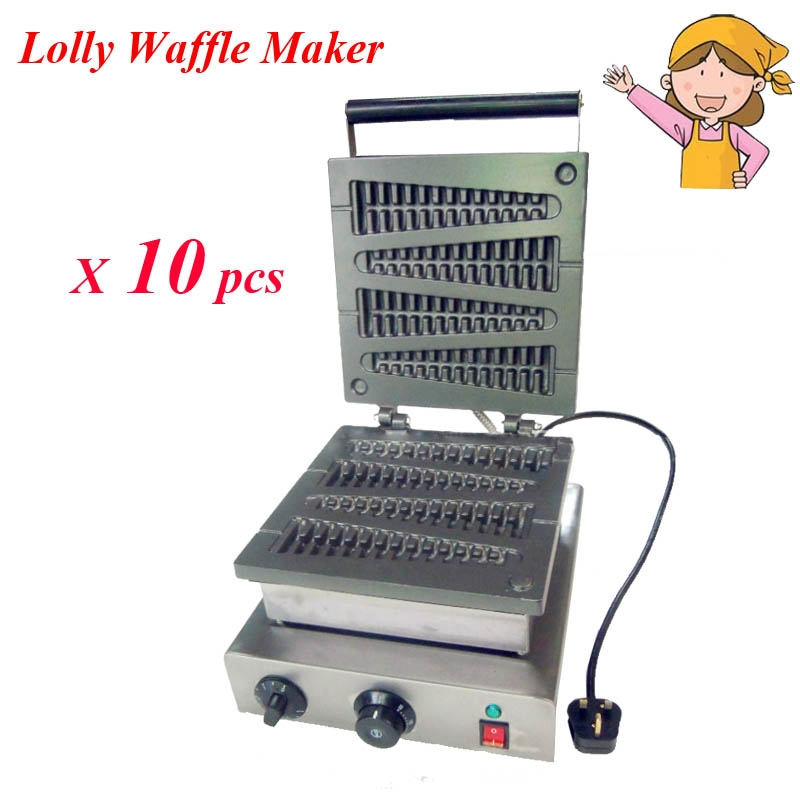 2790 00 Watch More Here 10pcs Lot Wholesale Lolly Waffle Maker Machine 110v 220v Household Portable Kitchen Appliances Fy 117