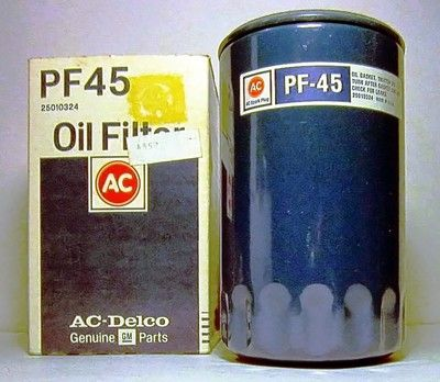 NOS AC-Delco PF 45 Oil Filter 25010324 Buick Olds Chevrolet Cadillac Pontiac