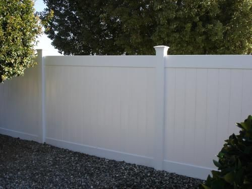 w white vinyl pro privacy fence panel kit