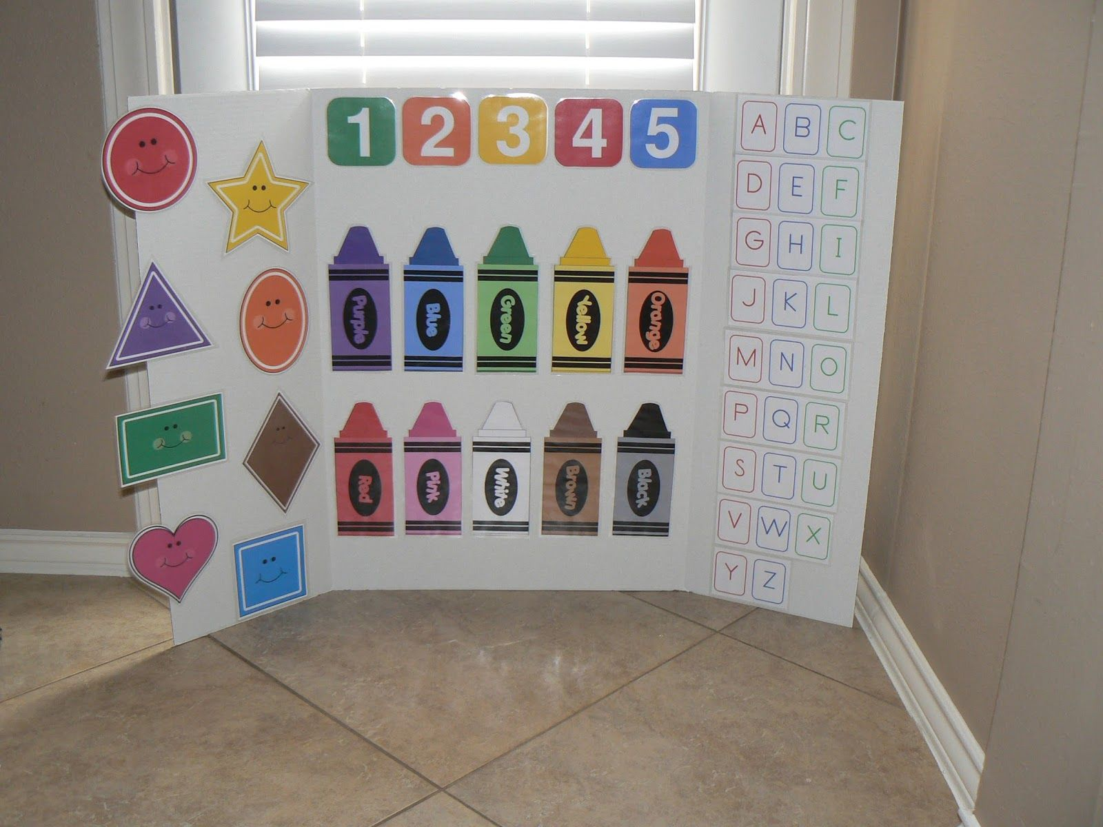 Our Home Creations Preschool Learning Board