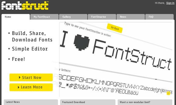 free  fontstruct software companies