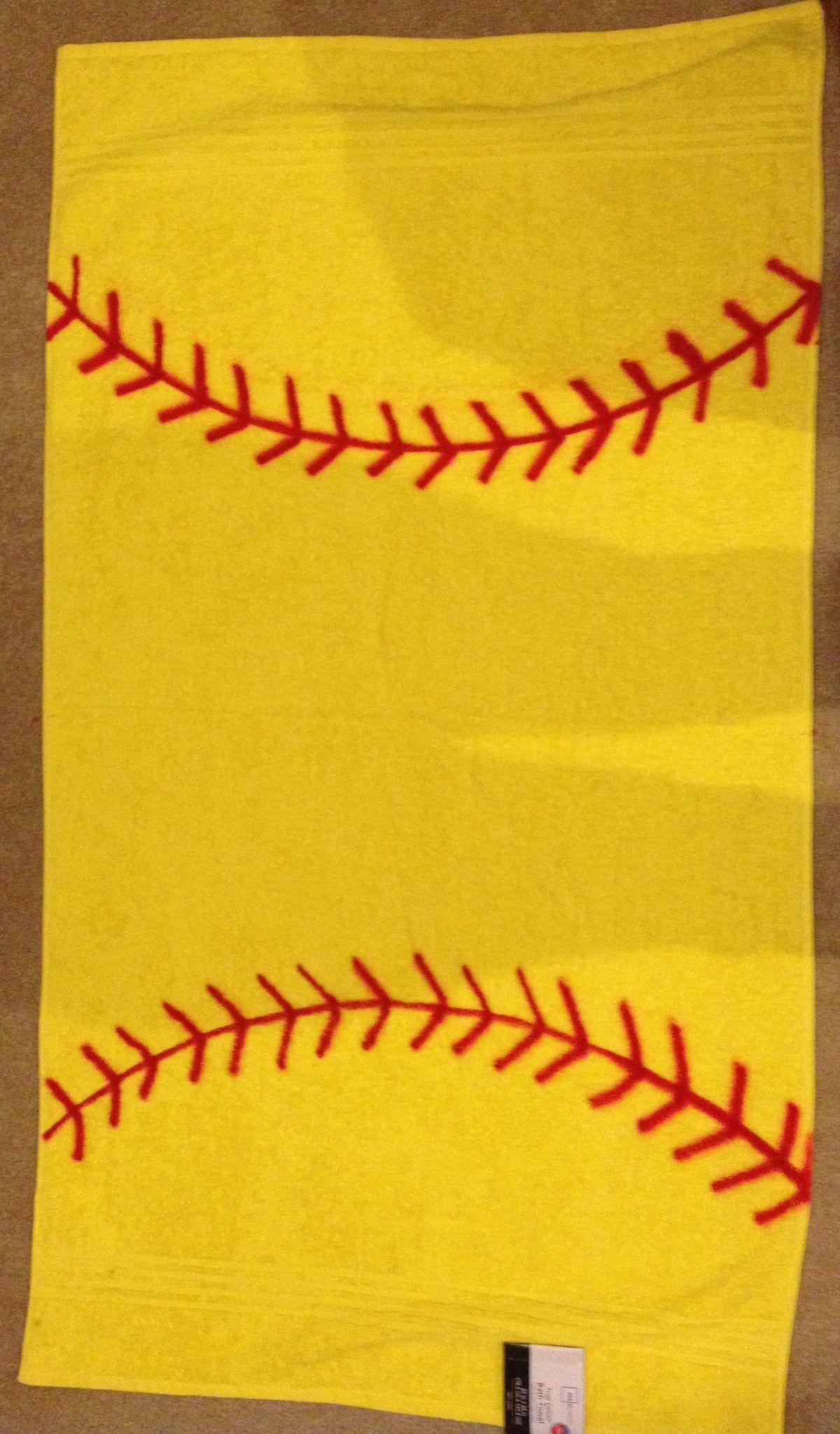 Softball Towel I Made For My Daughters Softball Team