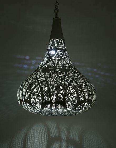 Large Silver Teardrop Pendant Light