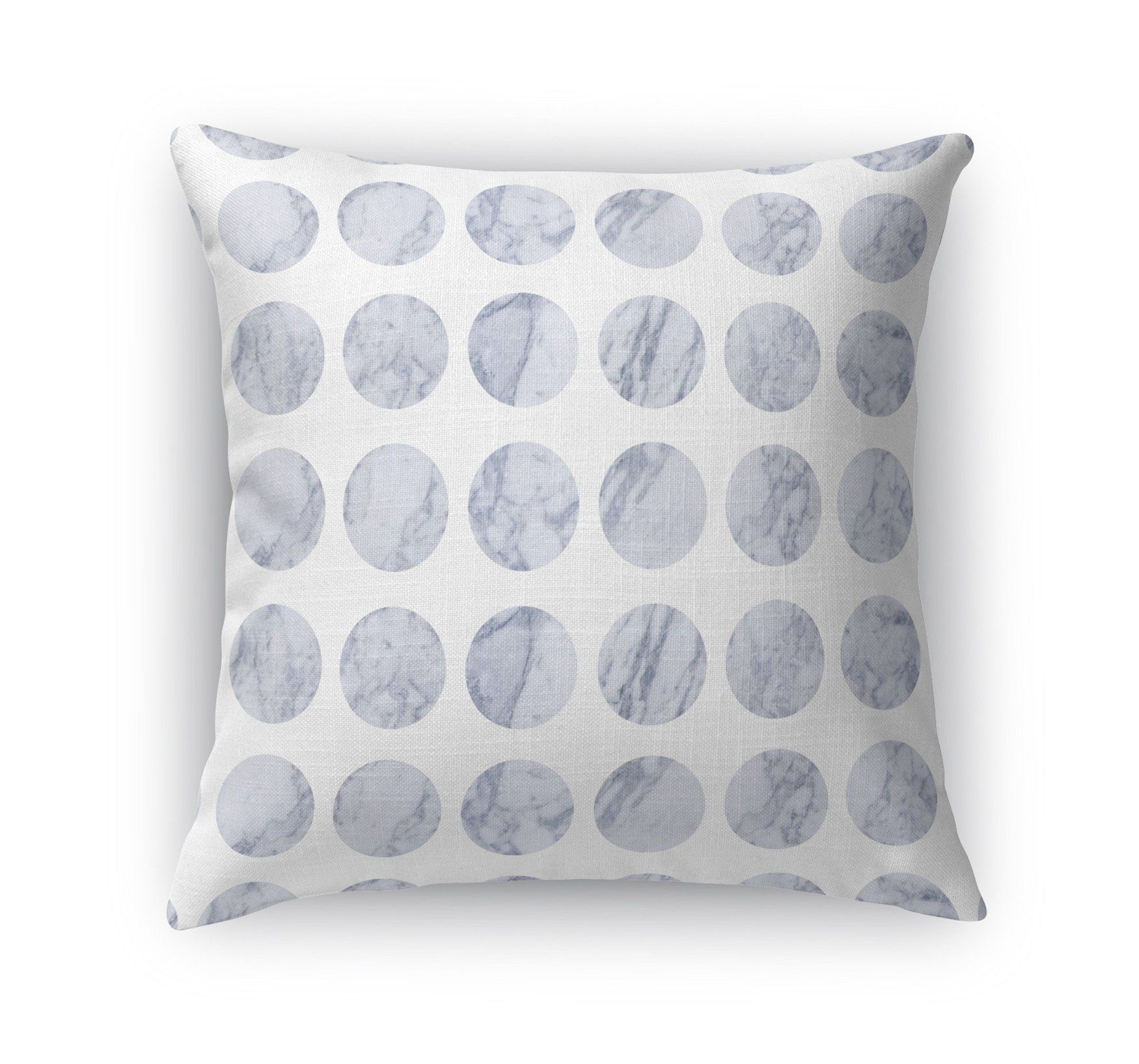 FAT DOT WHITE MARBLE Accent Pillow By Jackii Greener - 26in x 26in