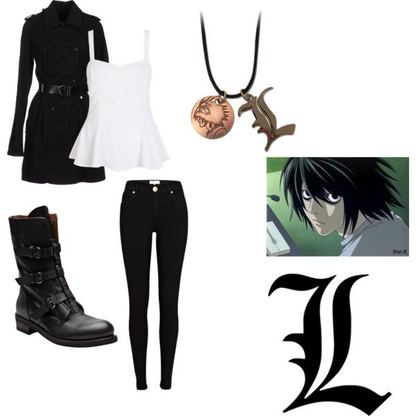 Death note l black and white dresses
