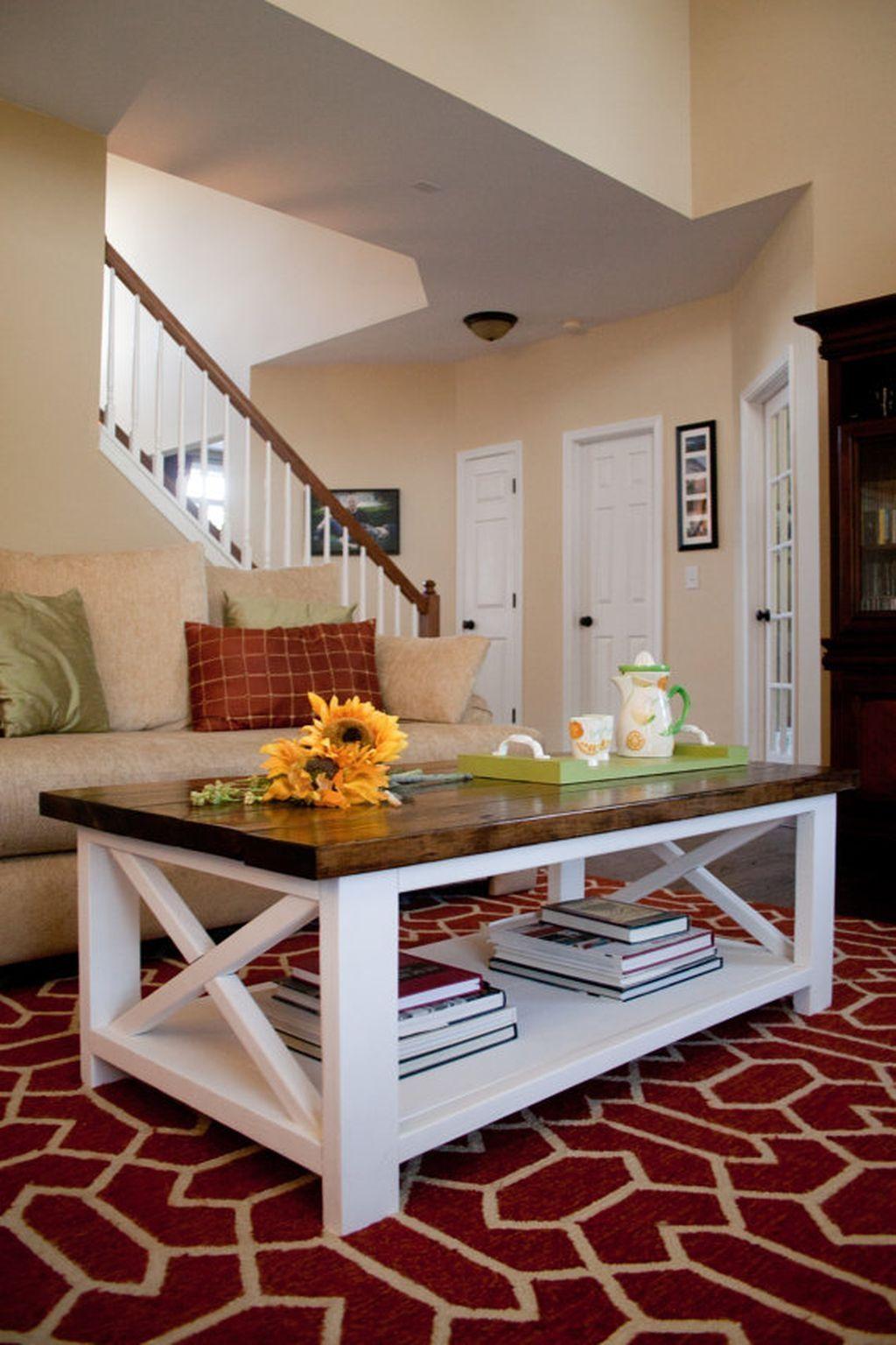 46 Elegant Farmhouse Coffee Table Ideas Em 2020 Home Mobiliario