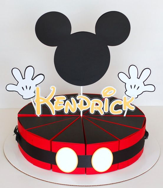 Paper Creations By Kristin: Mickey Mouse Paper Cake