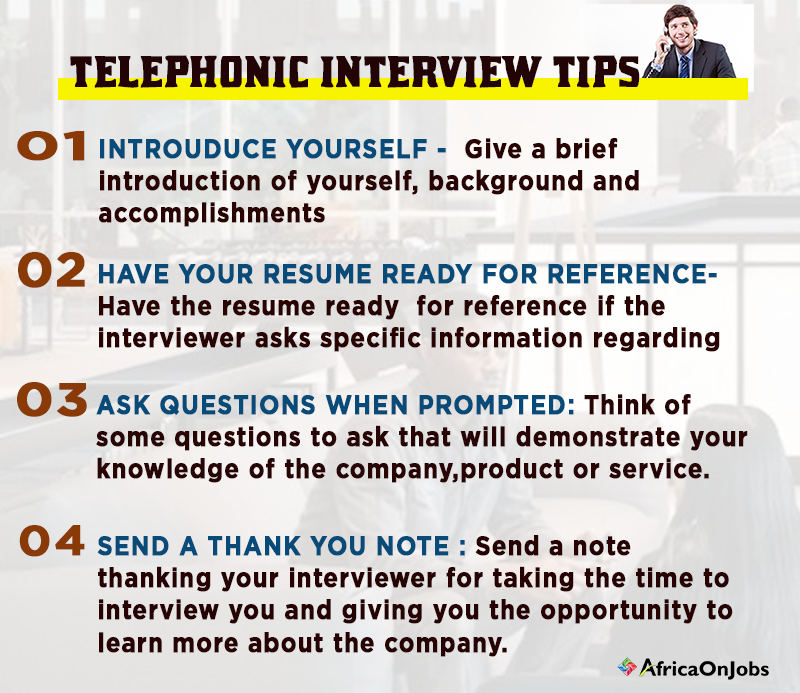 tips that can help you succeed in a telephonic interview