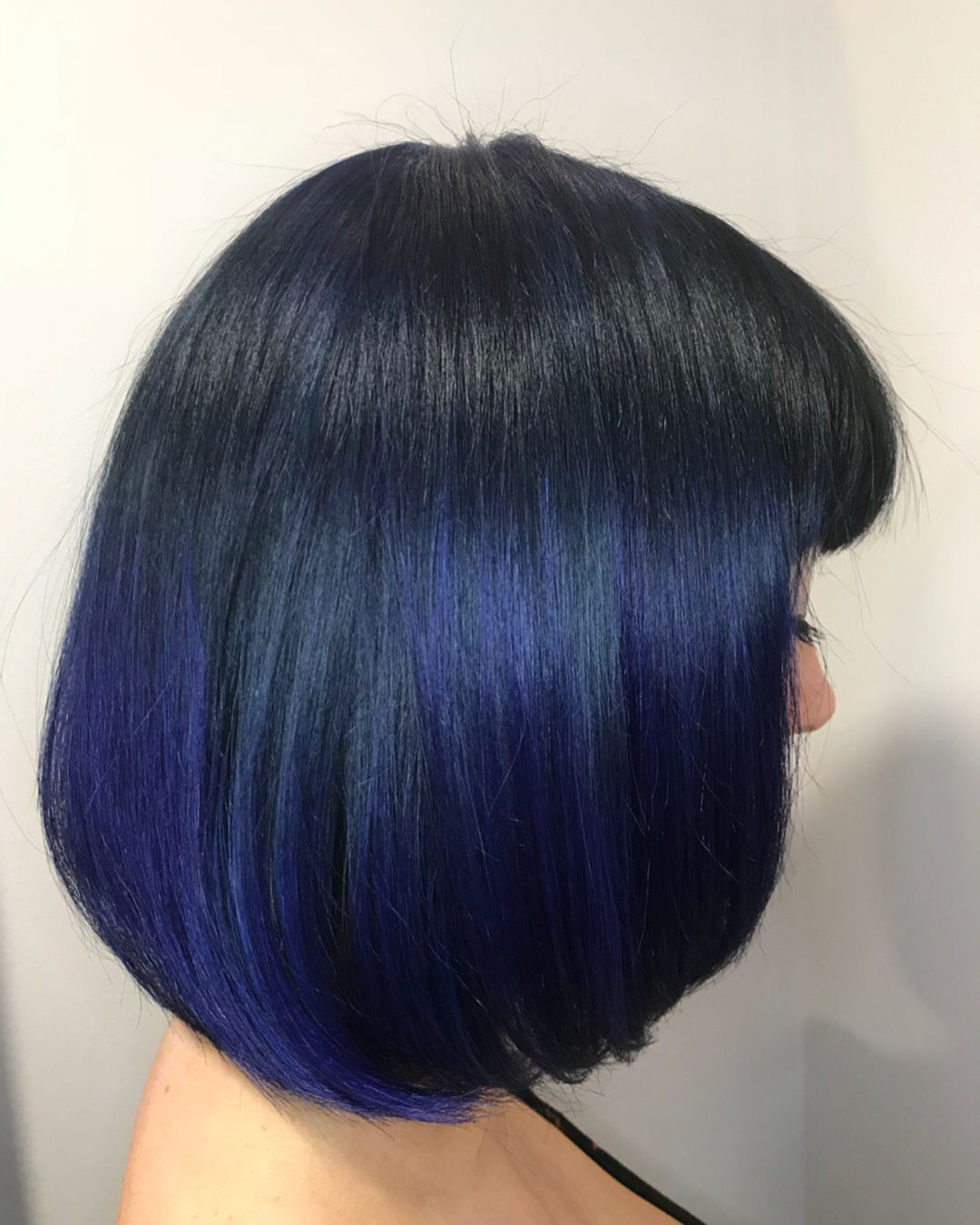 Directions Midnight Blue Bob Balayage Balayage Hair Hair Color