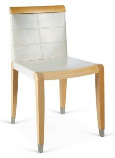 Aro Side Chair, Natural/Ivory