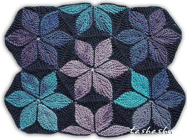 Ravelry Hexagon Kaleidoscope Patchwork Knitting Pattern By Svetlana