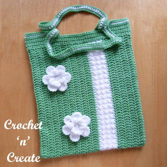 Crochet Shopping Bag Free Crochet Pattern   Pinterest   Shopping ...