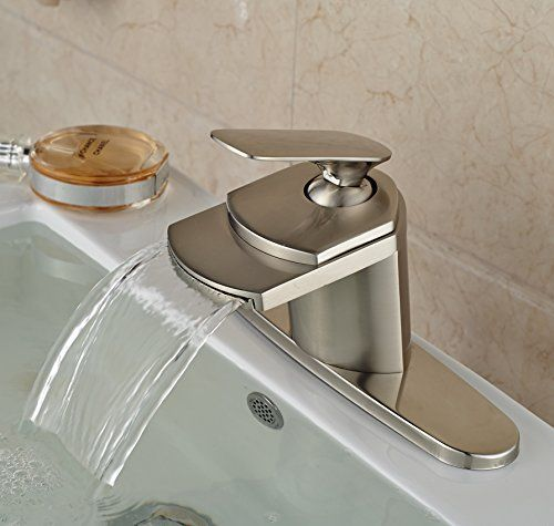 Bathroom Faucets Diy Rozin Brushed Nickel Waterfall Spout