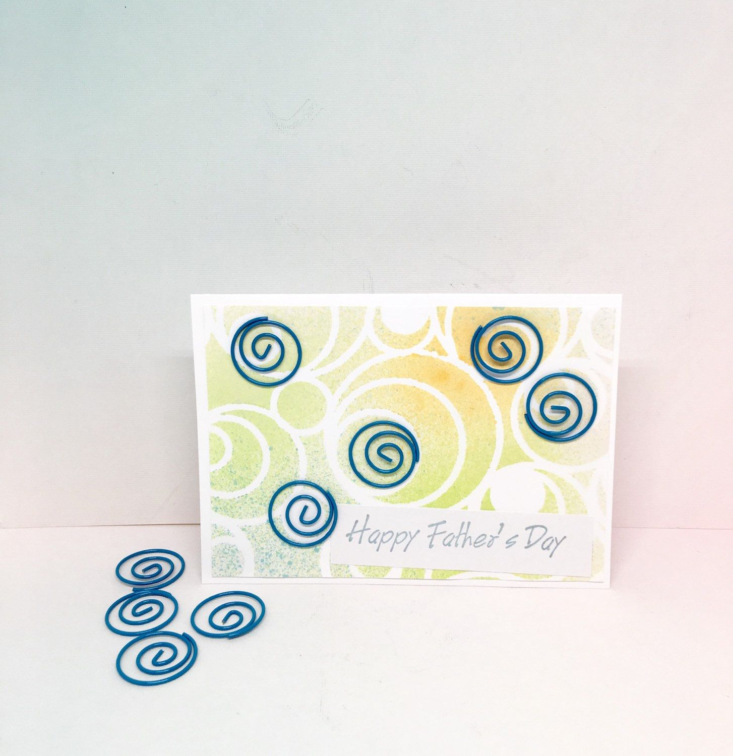 Fathers Day Card - Paper Handmade Greeting Card - Fathers Day Gifts -  Swirl Card - Card for Father - Note Card - Stationery - Paper Goods by byLisaCardsCrafts on Etsy  $4.99