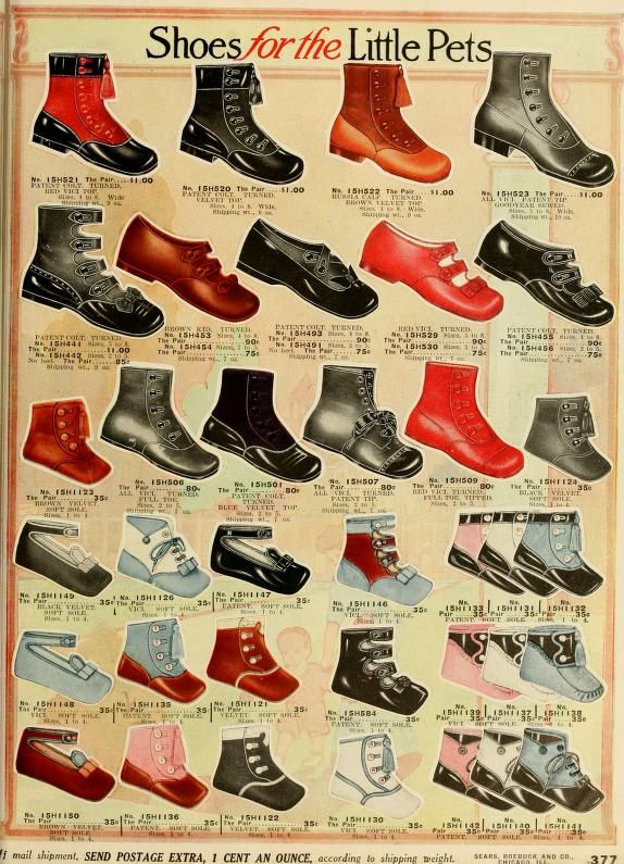 new arrival 988f3 6a0cb Children s and Baby shoes, Sears 1912 Catalog 124, Page 377.