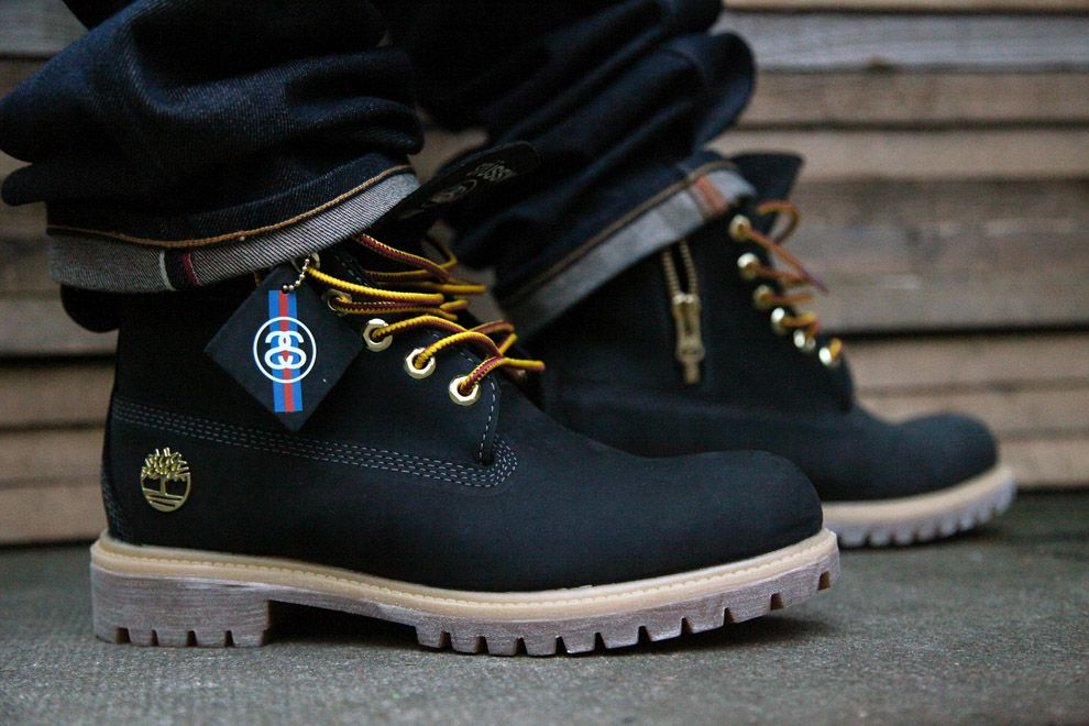 "Stussy x Timberland 6 Inch Boot ""Black†(Detailed Photos) - EU Kicks:  Sneaker Magazine"
