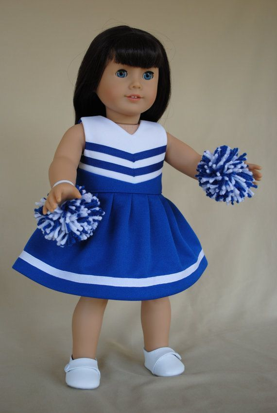 Royal Blue and White Cheerleader/Cheer Dress for American Girl/18 inch doll #18inchcheerleaderclothes Royal Blue and White Cheerleader Dress for by IfDollsCouldDream, $18.00 #18inchcheerleaderclothes Royal Blue and White Cheerleader/Cheer Dress for American Girl/18 inch doll #18inchcheerleaderclothes Royal Blue and White Cheerleader Dress for by IfDollsCouldDream, $18.00 #18inchcheerleaderclothes