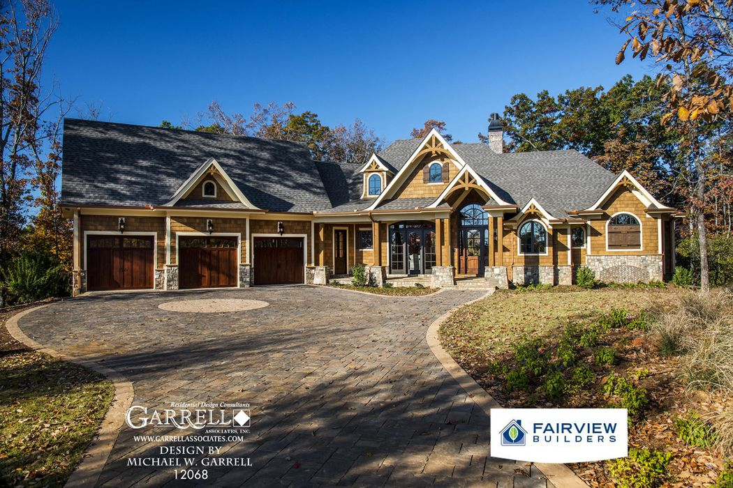 Garrell associates inc amicalola cottage house plan 12068 for Luxury rustic homes