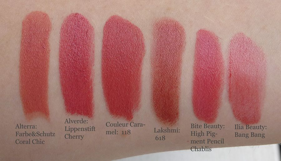 how to make lipstick swatches