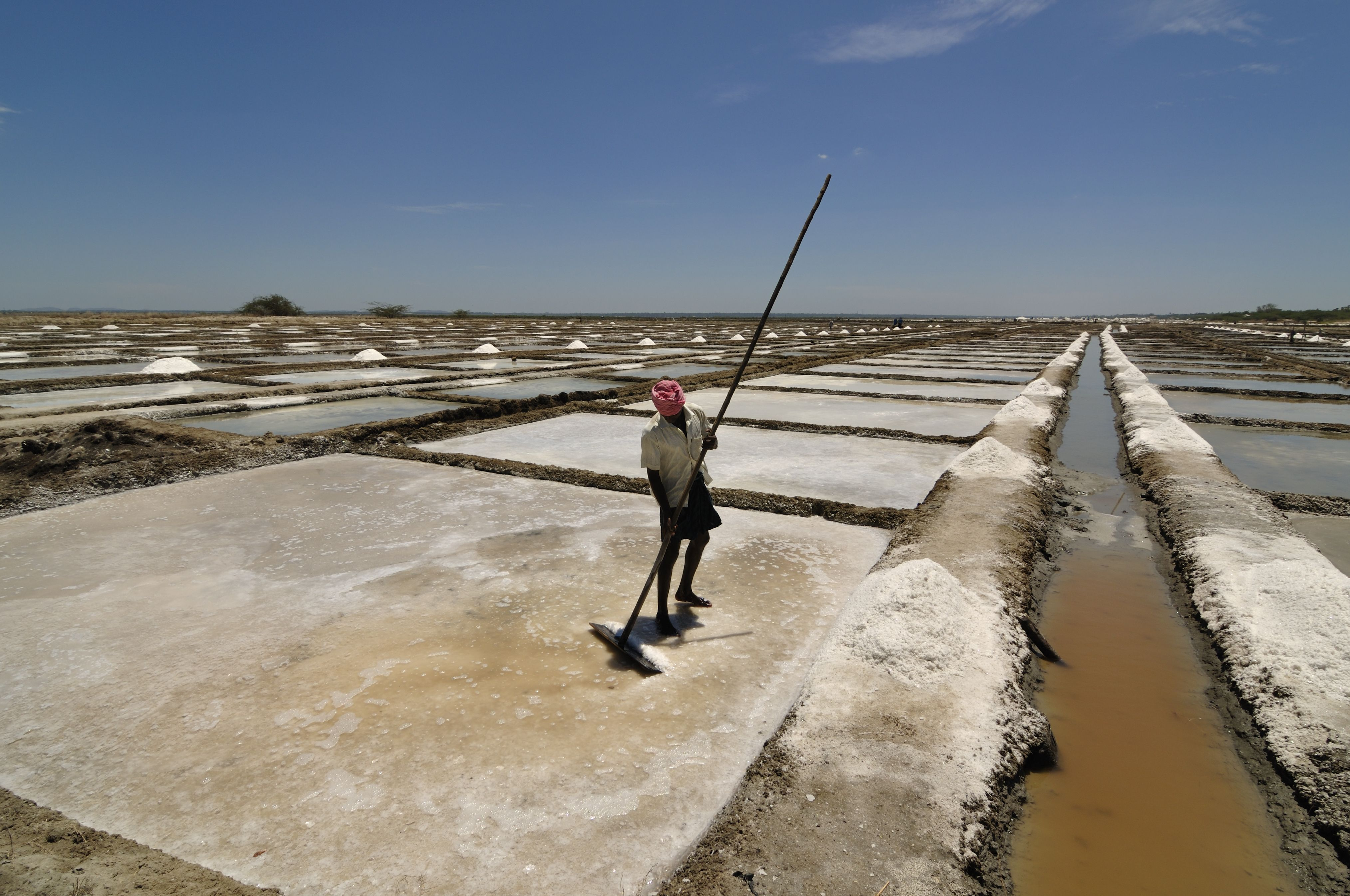Pile Of Salt In The Salt Pan At Rural Area Of Thailand Stock Photo ...