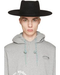 2bfc718466d317 Off-White c/o Virgil Abloh Off-white Black Wide Brim Hat black - Lyst