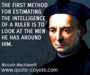 Niccolo Machiavelli: Sunday Quotes – Niccolo Machiavelli