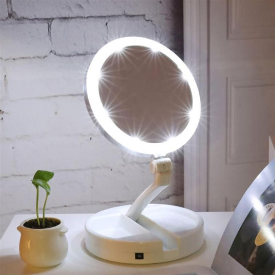 Portable Led Lighted Makeup Mirror Vanity Compact Make Up Pocket Mirrors Portable Led Lighted Ma In 2020 Schminkspiegel Beleuchteter Kosmetikspiegel Kosmetikspiegel