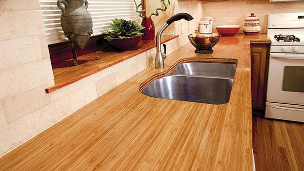 Installing A Bamboo Countertop Is A Project Any Diyer With Woodworking Experience Can Tackle To Giv Bamboo Countertop Kitchen Redecorating Kitchen Countertops