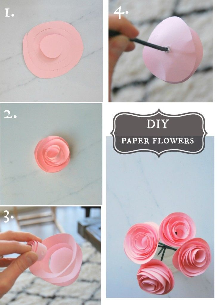 Make These Super Pretty Diy Paper Flowers With Some Sbook Stems And Glue Simple Tutorial They Look Darling The Sweetest Digs
