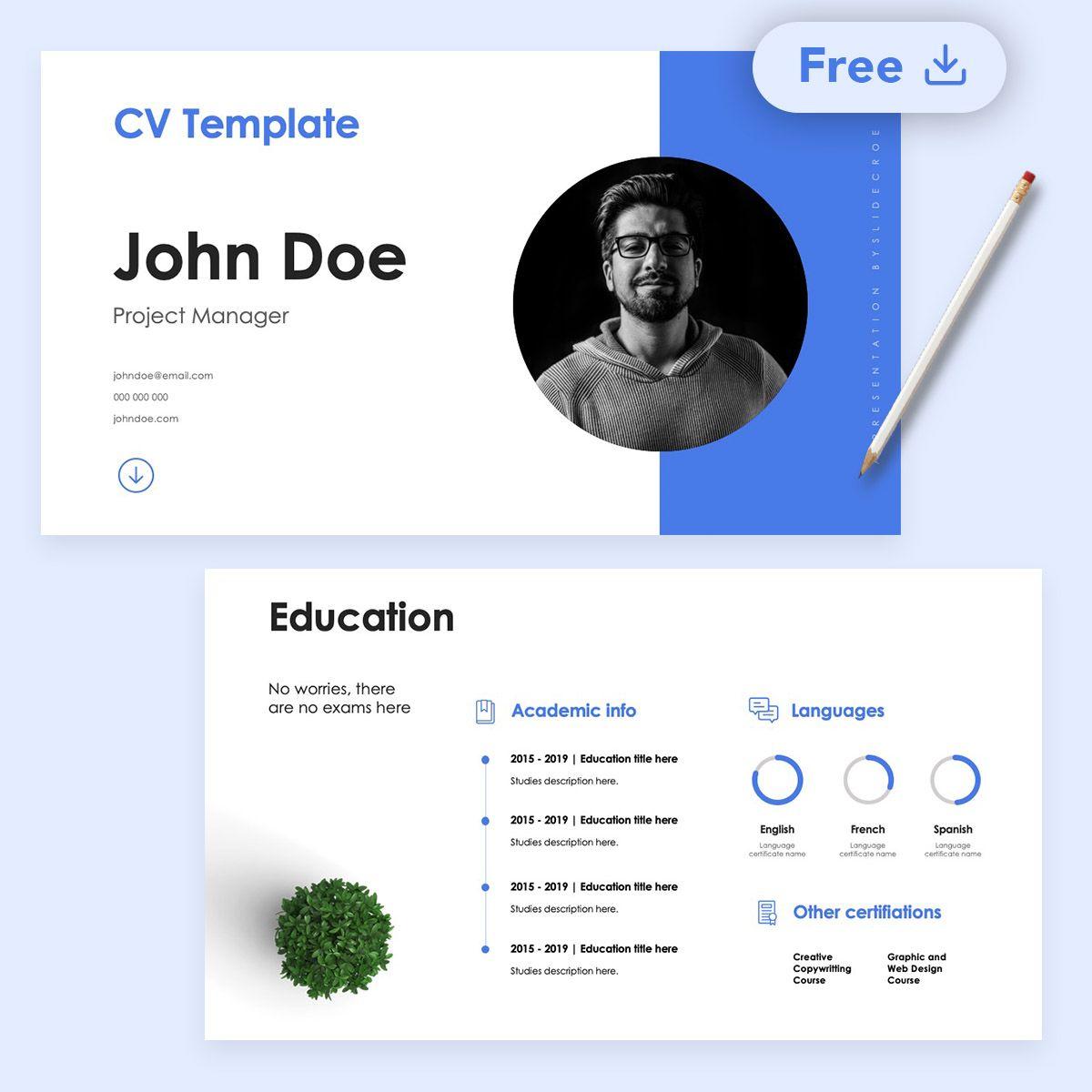 Zurich Free Cv Powerpoint Google Slides Presentation By Slidecore In 2021 Presentation Template Free Presentation Templates Slide Design