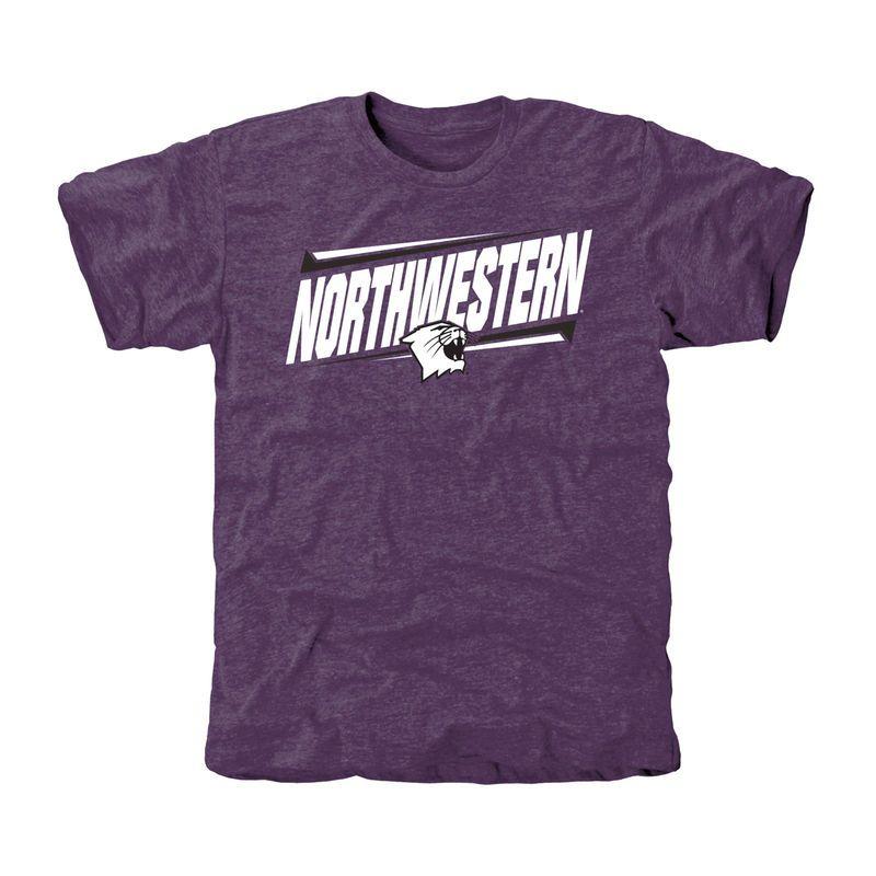 the best attitude 6ce5f ae22e Northwestern Wildcats Double Bar Tri-Blend T-Shirt - Purple