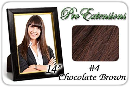 Enjoy exclusive for Pro Extensions 14 #4 Chocolate Brown Clip-in Human Hair Extensions online - Topbrandspremium #humanhairextensions