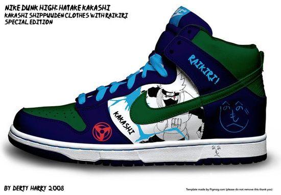 the latest 6fadb ff24b naruto kakashi shoes