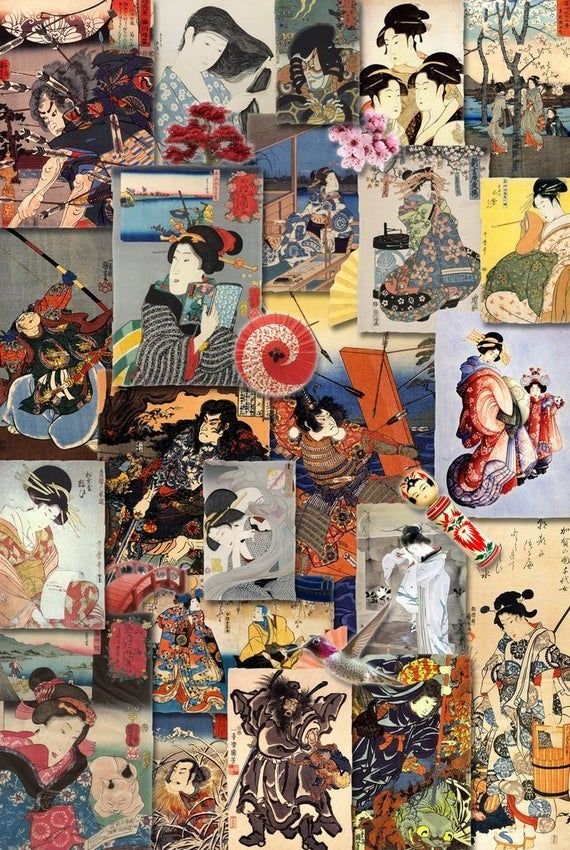 Relive the adventure and romance of old Japan with this colorful collage of famous Japanese woodblock prints.The perfect gift for jigsaw puzzlers and Asian Art enthusiasts, this traditional adult wooden jigsaw puzzle can be done time and again. Our puzzle artists have included many shaped whimsy puzzle pieces that match the theme of the painting, and we have integrated them in ways that will delight and surprise you as you put the puzzle together. Includes Bonus Poster to Guide AssemblyNumber of