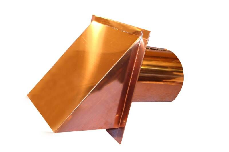 Copper End Cap For Fire Place  One Decorative Venting Possibility For The  Gas Fire Place