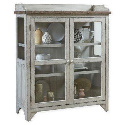 Pulaski Nicole Accent Display Cabinet In Grey Cabinet