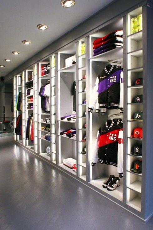 interior, Clothing store interior
