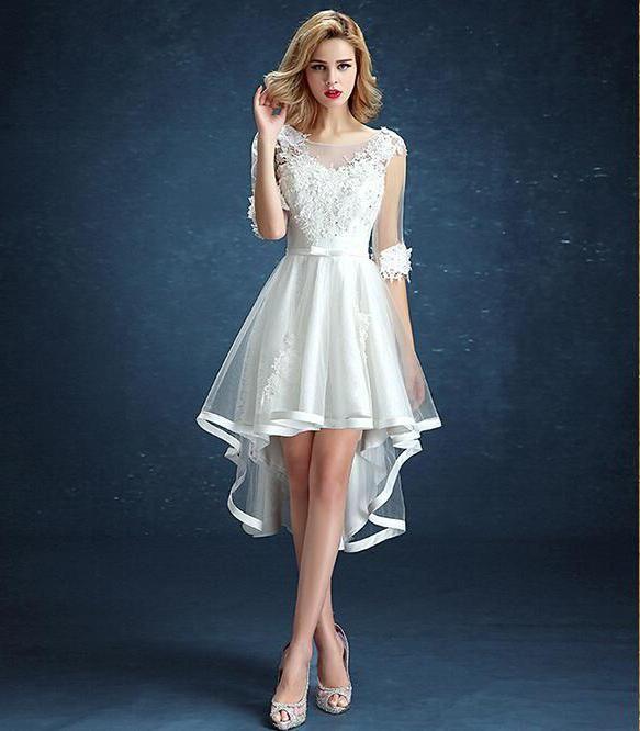Картинки по запросу белое короткое платье со шлейфом и ...