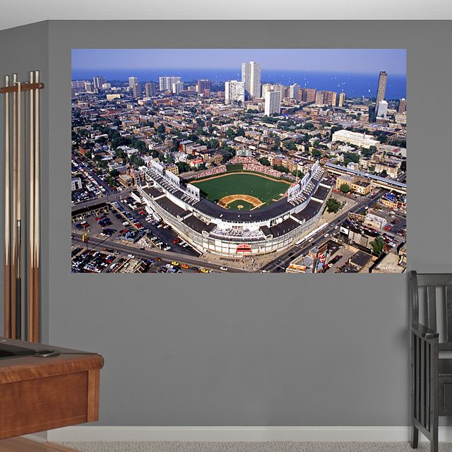Wrigley Field Aerial Mural REALBIG Fathead Wall Graphic