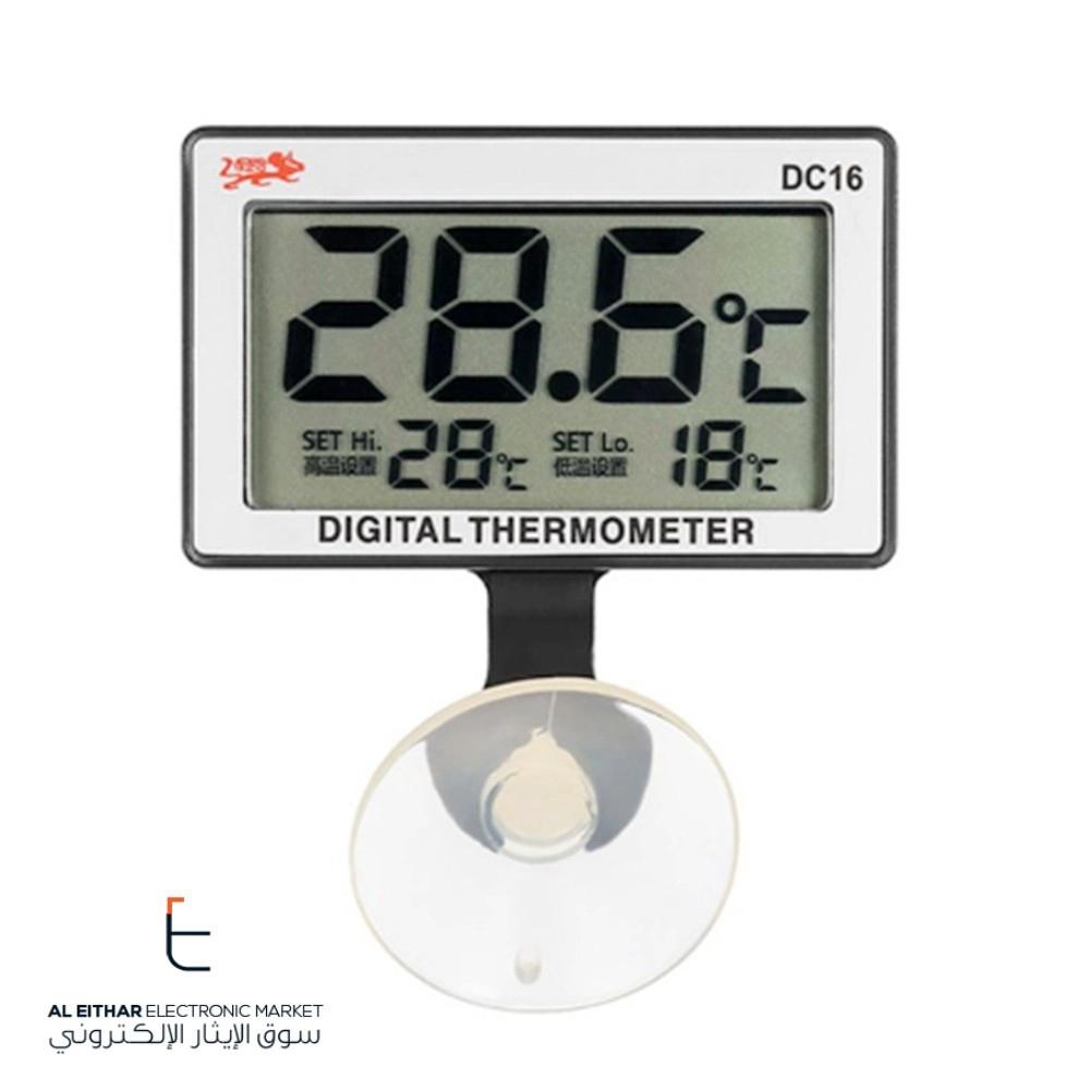 ميزان مقياس حرارة رقمي بشاشة Lcd لحوض السمك Digital Aquarium Thermometer Dc16 سوق الإيثار الإلك Temperature Alarm Thermometer Temperature Digital Thermometer